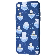 "TPU чехол WAVE Fancy для Apple iPhone XR (6.1"") White Bear and Penguins / Dark blue"