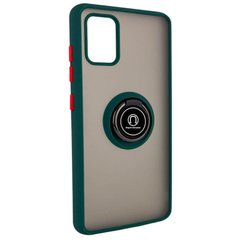 TPU+PC чехол Deen ColorEdgingRing for Magnet для Samsung Galaxy A71 Зеленый