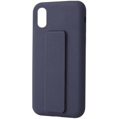 "Чехол Silicone Case Hand Holder для Apple iPhone XR (6.1"") Темно-синий / Midnight blue"