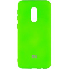 Чехол Silicone Cover My Color Full Protective (A) для Xiaomi Redmi Note 4X / Note 4 (Snapdragon) Салатовый / Neon green