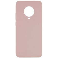Чехол Silicone Cover Full without Logo (A) для Xiaomi Redmi K30 Pro / Poco F2 Pro Розовый / Pink Sand