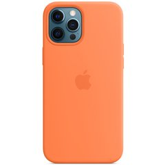 "Чехол Silicone case (AAA) full with Magsafe для Apple iPhone 12 Pro / 12 (6.1"") Оранжевый / Kumquat"
