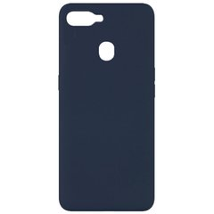 Чехол Silicone Cover Full without Logo (A) для Oppo A5s / Oppo A12 Синий / Midnight blue