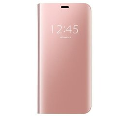Чехол-книжка Clear View Standing Cover для Samsung Galaxy J8 (2018) Rose Gold